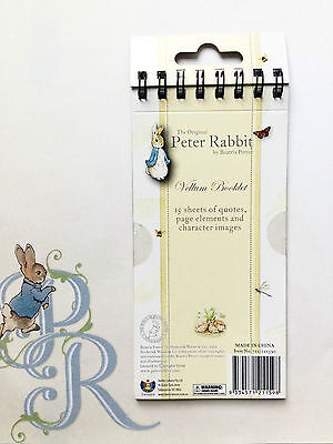 Peter Rabbit | Beatrix Potter | Vellum Booklet - Quotes, Page Elements & Images