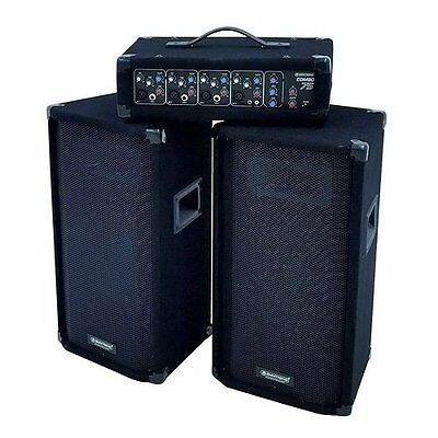 NEW  OMNITRONIC 057376Active PA System DJ MIXER SPEAKERS AMPLIFIER RRP £399.99