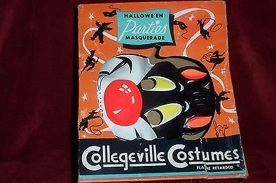 Vintage Halloween COLLEGEVILLE SYLVESTER the Cat Mask w/BOX