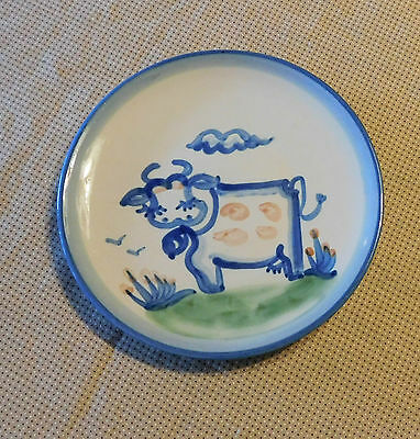 "Signed M A Hadley ""Cow"" Dessert Plate - pre 1960s"