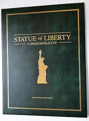 Statue of Liberty With Postal Commemorative Silver Dollar~Stamp Collection 1986