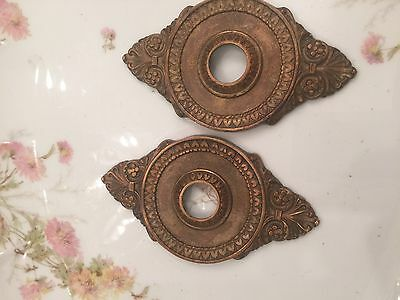 Pair Antique French Backplates, Acanthus Motif, 3Rd Of 4 Pair