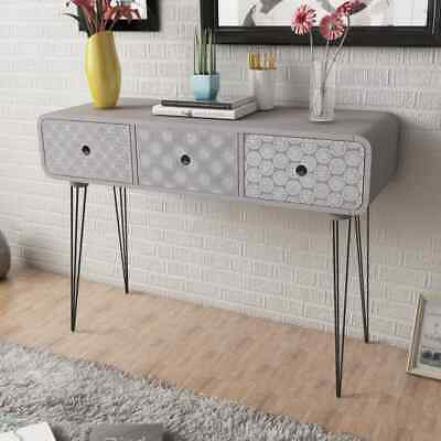 Side Cabinet Sideboard Console Table Console Cabinet Hall Table W/ 3 DrawersGrey
