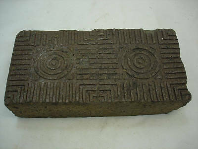 Antique Brick Paver Glazed Sidewalk Brick Central Il Garden Door Stop Brown Clay