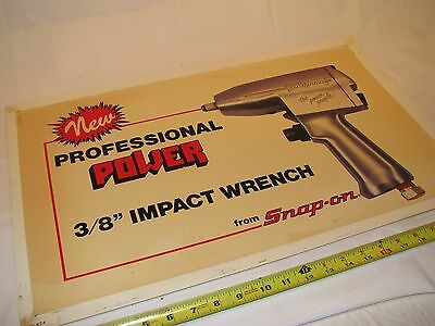 Authentic Vintage Snap On Tools Impact Wrench Garage Workshop Sign Plastic