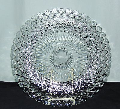 "Anchor Hocking WATERFORD/WAFFLE CRYSTAL *13 3/4"" SANDWICH PLATE*"