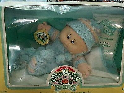 Cabbage patch kids babies Coleco NIB bean butt baby