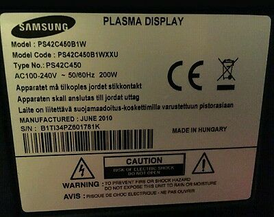 Samsung PS42C450B1 Breaking for parts