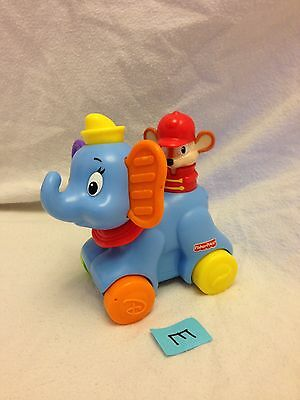 Fisher-Price Baby Toddler Disney Rollin Tunes Dumbo Toy With Sound GUC