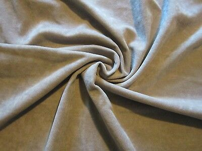 """33 by 60"""" Faux Suede in a Green Beige Shade Fabric"""