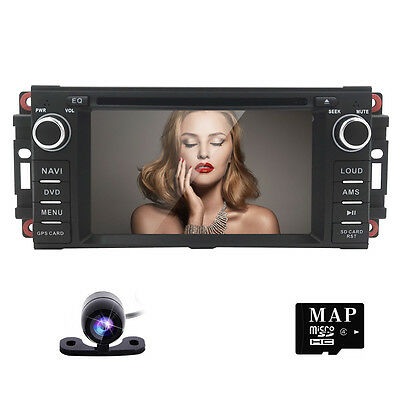 GPS Sat Navi Car Radio Stereo for Chrysler/Jeep/Dodge RAM BT, RDS,Ipod+HD Camera