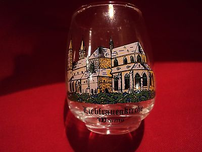 Vintage Liebfrauenkirche Worms Belled Wine Shot (BZ031)