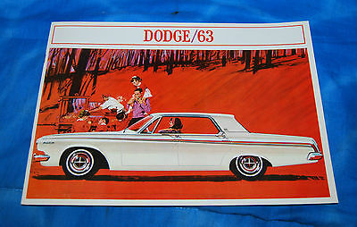1963 Dodge Sales Brochure Canadian