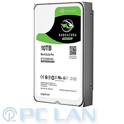 "Seagate BarraCuda Pro 10TB 256MB Cache 7200RPM 3.5"" HDD SATA 6G 5 Years Warranty"
