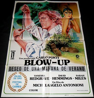 1966 Blow Up ORIGINAL SPAIN FILM POSTER Michelangelo Antonioni ARTWORK by ROJO