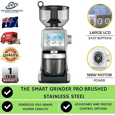 Breville BCG820BSS The Smart Grinder Pro Brushed Stainless Steel Digital Coffee