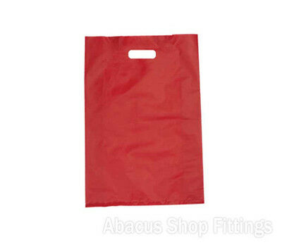 HDPE PLASTIC BAG LARGE - RED Ctn/500