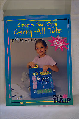 NEW Paintable Off-White Canvas Carry-All Tote Bag Size 13 x 10 x 3 inches CRAFTS