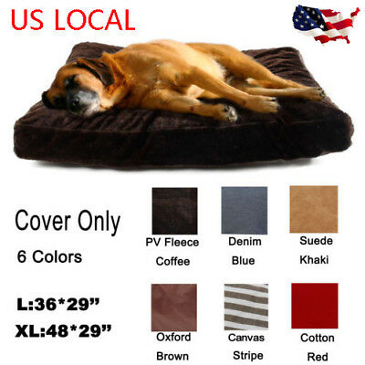 Pet Dog Bed Cover Replacement Puppy Kitten Soft Cushion Washable Mat Slipcover