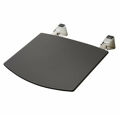 Award Eziliving FOLD-UP SHOWER SEAT Wall Mount, Metal Frame, BLACK *Aust Brand