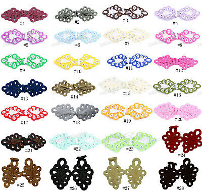 28Color Extra Large Sewing Chinese Closure Fastener Knot Cheongsam Frog Buttons