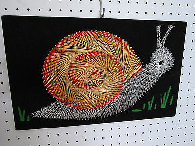 Vintage Retro 1970's SNAIL String Art Geometric Wall Hanging, Great Condition