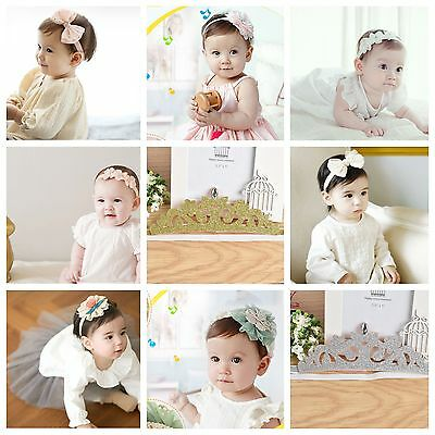 Baby Headband Flower Girl Hair Band Toddler Rabbit Headwear Match Dress Headband