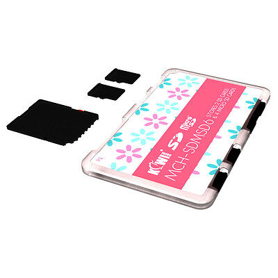 KIWI Ultra Thin Memory Card Case Holder Storage For 2SD+4MicroSD Cards Compact