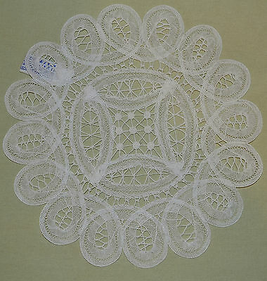 """NEW White 8"""" Diameter Cotton Intricate Brussels Lace Imperial Elegance Doily"""
