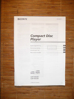 Manual/Instructions for Sony CDP-XE530/CDP-XE330,ORIGINAL