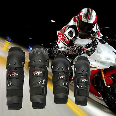 4X Motorcycle Knee Elbow Protective Pad Protector Gear Sports Tactical Black New