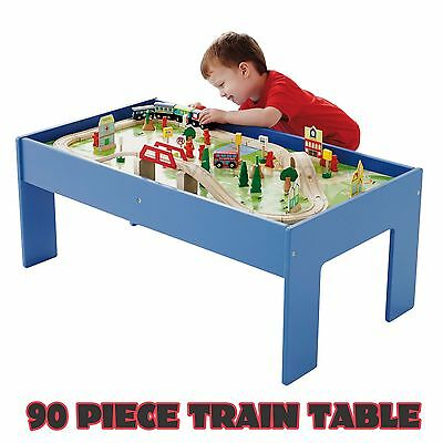 Childrens Wooden Train Table Train Set Childrens Toy Kids Thomas the Tank