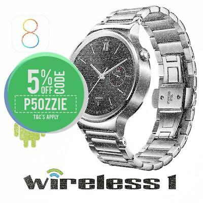 Huawei W1 Watch Silver Stainless Steel with Silver Link Band