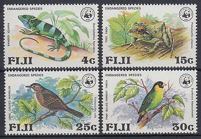 Fiji 1979 ** Mi.387/90 Tiere Animals Vögel Birds WWF [sq6695]