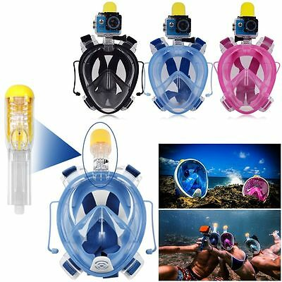 Full Face Snorkel Snorkel Mask Diving Goggle with Breather Pipe for GoPro Set