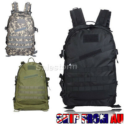 40L 3D Tactical Outdoor Army Military Rucksack Backpack Bag Camping Hiking Sport