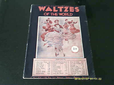 Music Book * Vintage * Waltzes Of The World Arranged For Piano