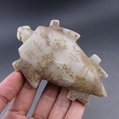 Chinese antique unearthed ancient aristocratic wear white turtle pendant A09