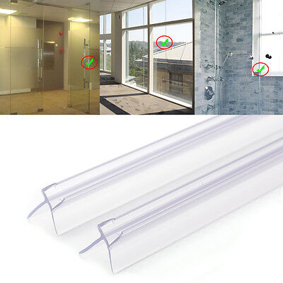 2x Plastic Curved Flat Bath Door Shower Screen Enclosure Seal For 6-8MM Glass