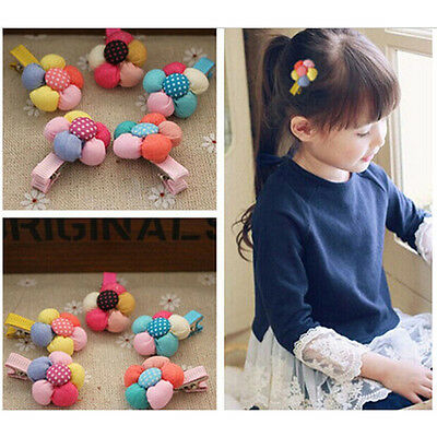 New Baby Hairpin Cute Flower Hair Clips Kids Candy Color Headwear for Baby Girls