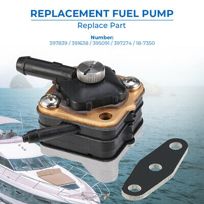 New Fuel Pump Replace for Johnson/Evinrude 9.9hp 15hp Pre 1993 397839