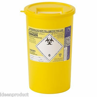 5 Litre Sharpsguard sharps needle waste bin box container medical insulin tattoo
