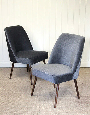 Pair of Vintage Retro East German Cocktail Chairs Mid Century