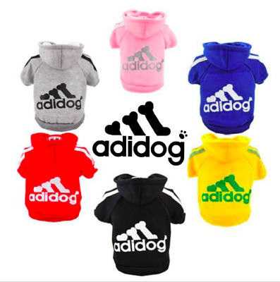 Warm Winter Casual Adidog Pet Dog Clothes Warm Hoodie Coat Jacket, Au Seller