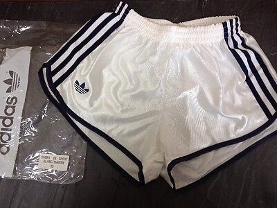 "Vintage 1980s ADIDAS Football Sport SHORTS Shiny Glanz BNWT Mens 30"" Small XS OG"