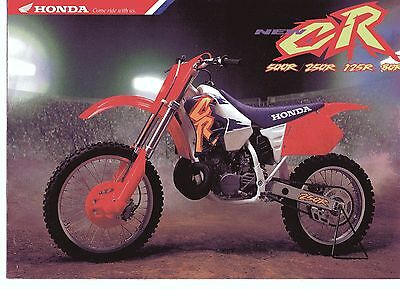 1995 HONDA  CR500RS CR250 CR125 CR80  6 Page Motorcycle Brochure NCS