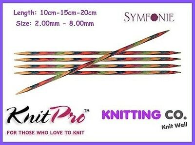 KnitPro SYMFONIE Wood Double Pointed Sock Knitting Needles (Dif Sizes) Knit Pro