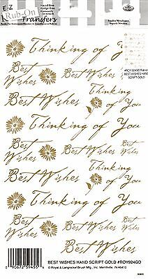 Thinking of You (Gold) - E-Z Rub-On Transfers Sheet - Brand New