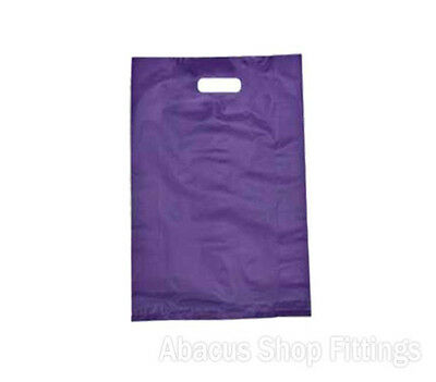 HDPE PLASTIC BAG LARGE - PURPLE Pkt/100