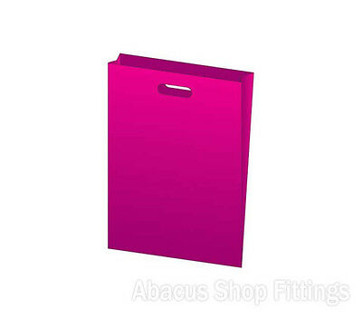 HDPE PLASTIC BAG LARGE - HOT PINK Pkt/100